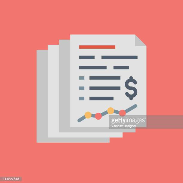 financial statement - illustration - counting stock illustrations