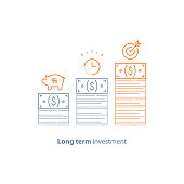 Financial strategy, income increase, return on investment, fund raising, long term increment, revenue growth, stock market