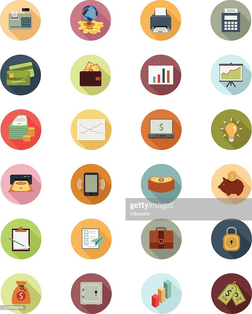 Financial Vector Flat Icons 1