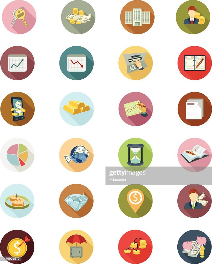 Financial Vector Flat Icons 4
