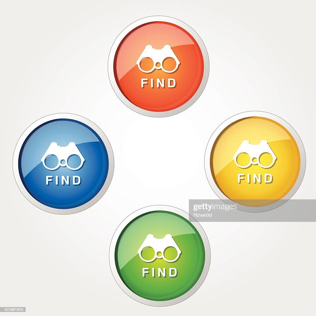 Find  Colorful Vector Icon Design