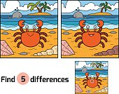 Find differences (crab and background)