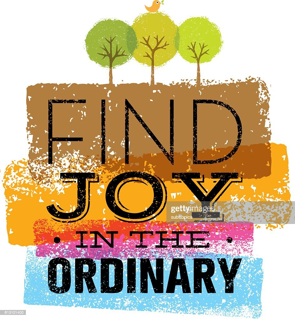 Find Joy In The Ordinary Motivation Quote