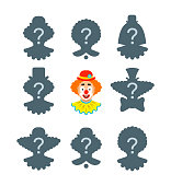 Find the clown shadow puzzle game
