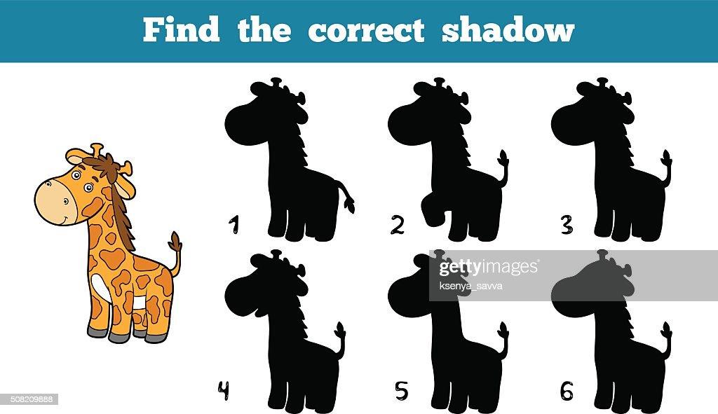 Find the correct shadow (giraffe)