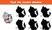 Find the correct shadow (cat)