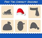 find correct shadows santa hat searching