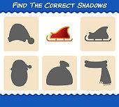 find correct shadows santa sleigh searching