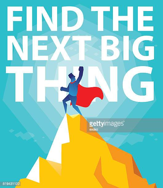 find the next big thing. - next stock illustrations