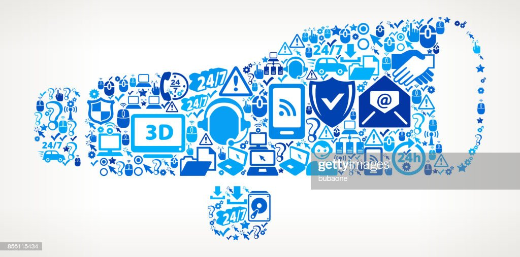 Finder Scope Tech Support Vector Icon Pattern