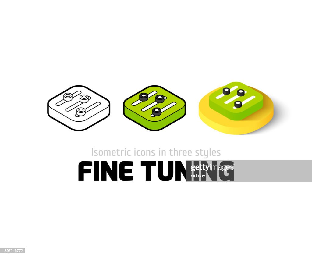 Fine tuning icon in different style