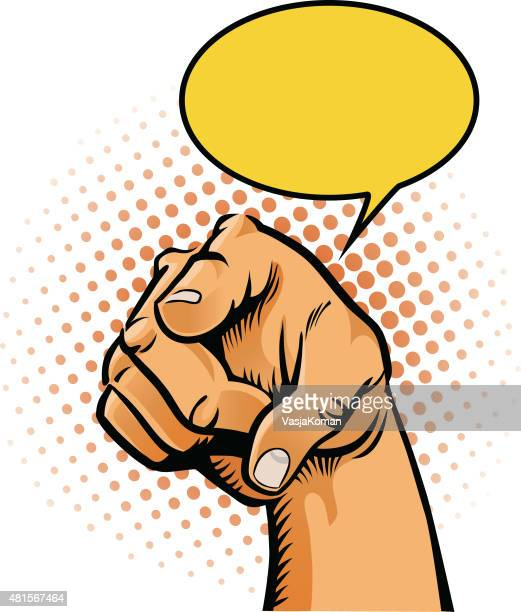 finger pointing at you - gesture with speech balloon - desire stock illustrations