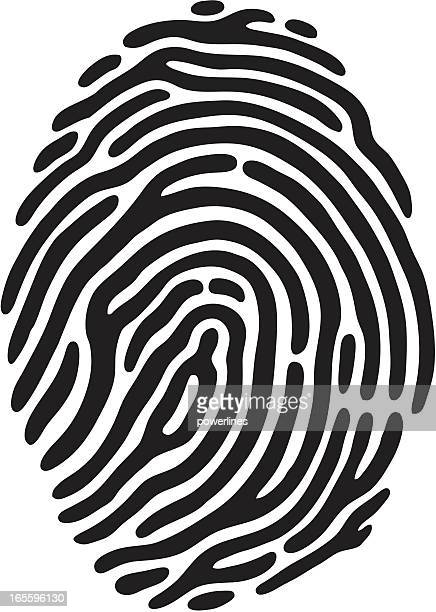 finger print - identity theft stock illustrations