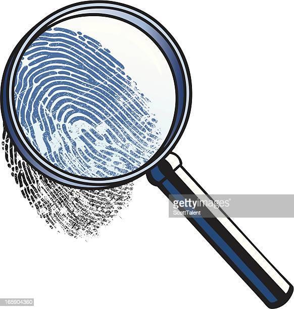 finger print - crime scene stock illustrations, clip art, cartoons, & icons
