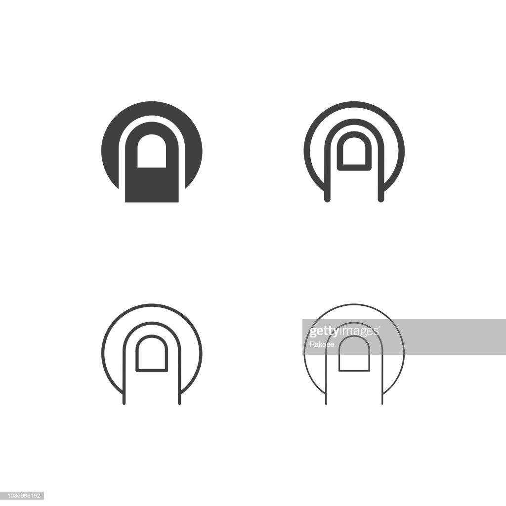 Finger Scan Icons - Multi Series : stock illustration