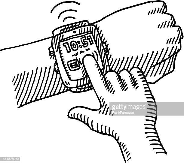 Finger Tap Smartwatch Hand Drawing