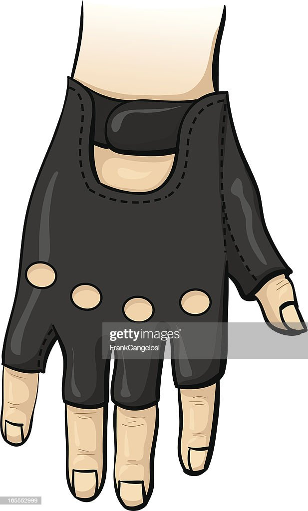 fingerless gloves : stock illustration