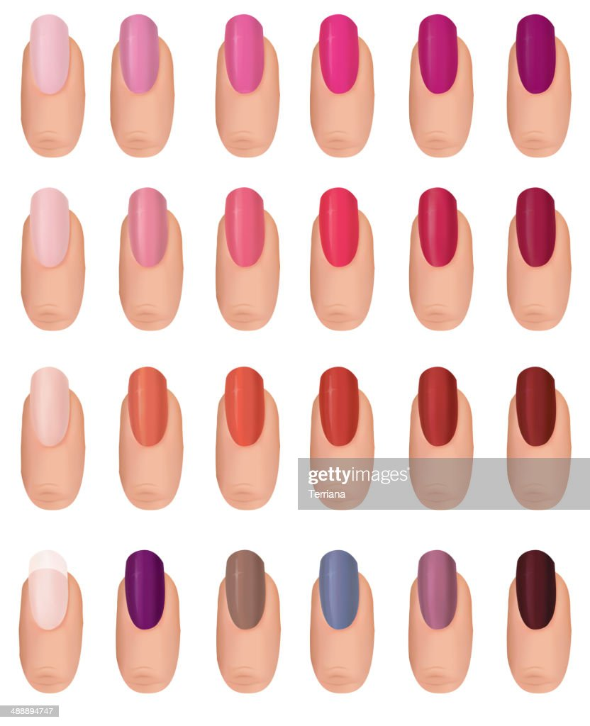 Fingernail colour set.