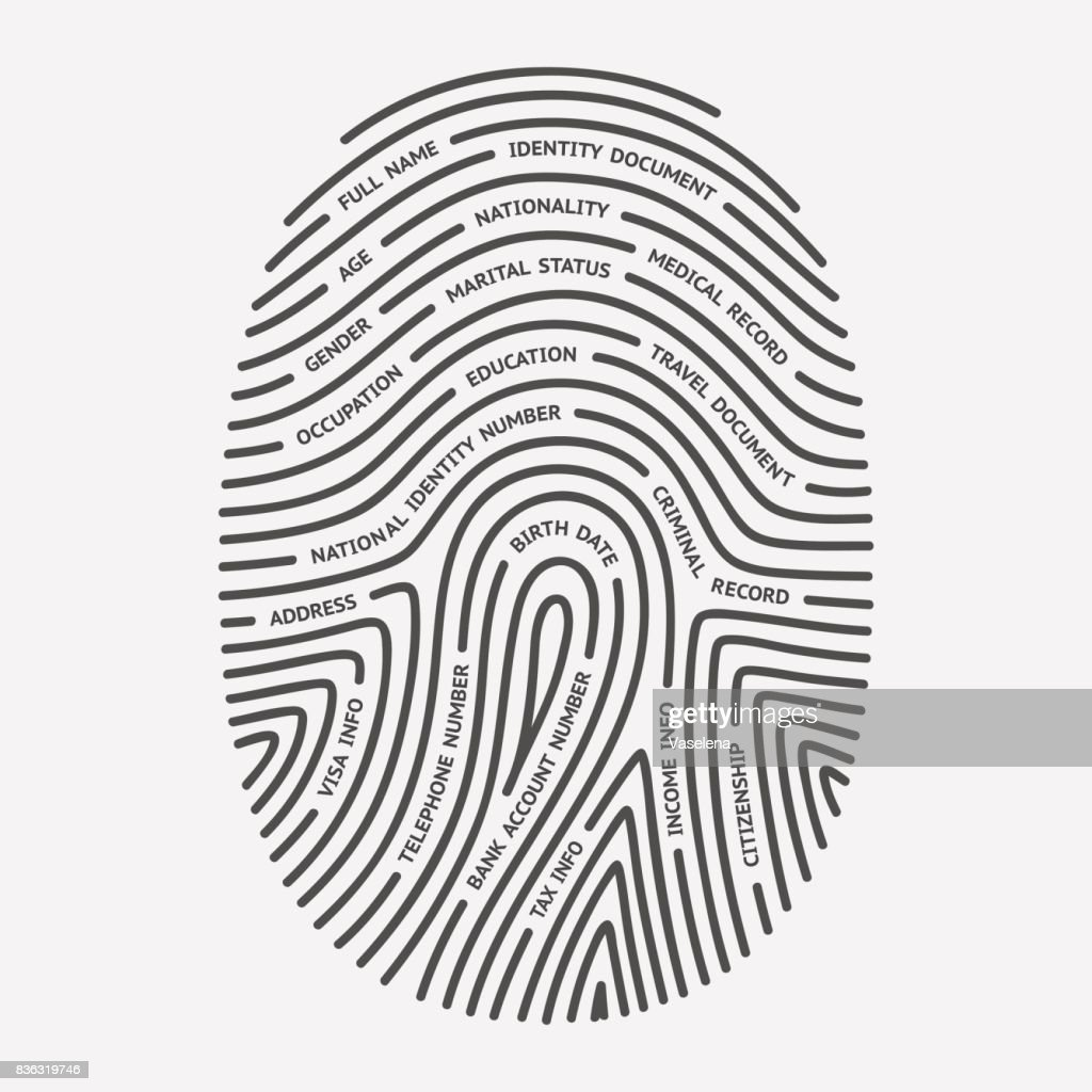 Fingerprint and personal information