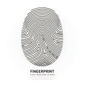 Fingerprint color vector illustration.