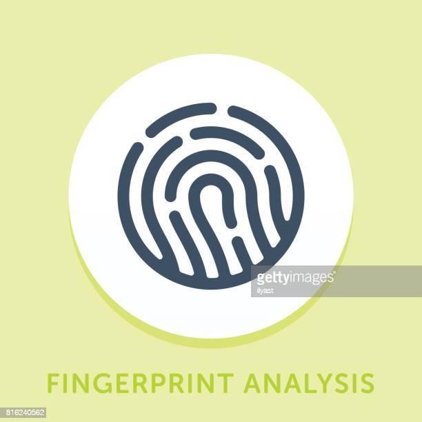 ilustraciones, imágenes clip art, dibujos animados e iconos de stock de icono de curva de huella digital - huella dactilar