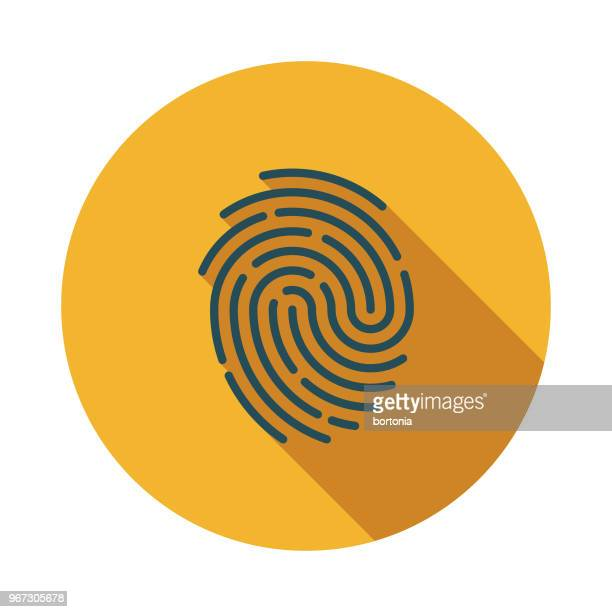 Fingerprint Flat Design Crime & Punishment Icon