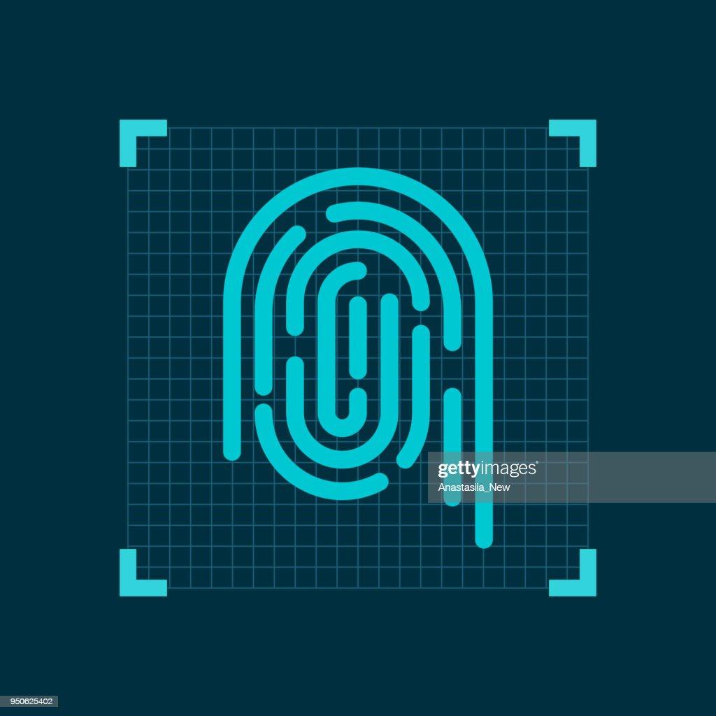 Fingerprint icon. ID application
