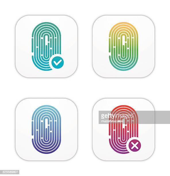 ID Fingerprint icons