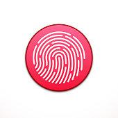 Fingerprint ID app icon. Fingerprint