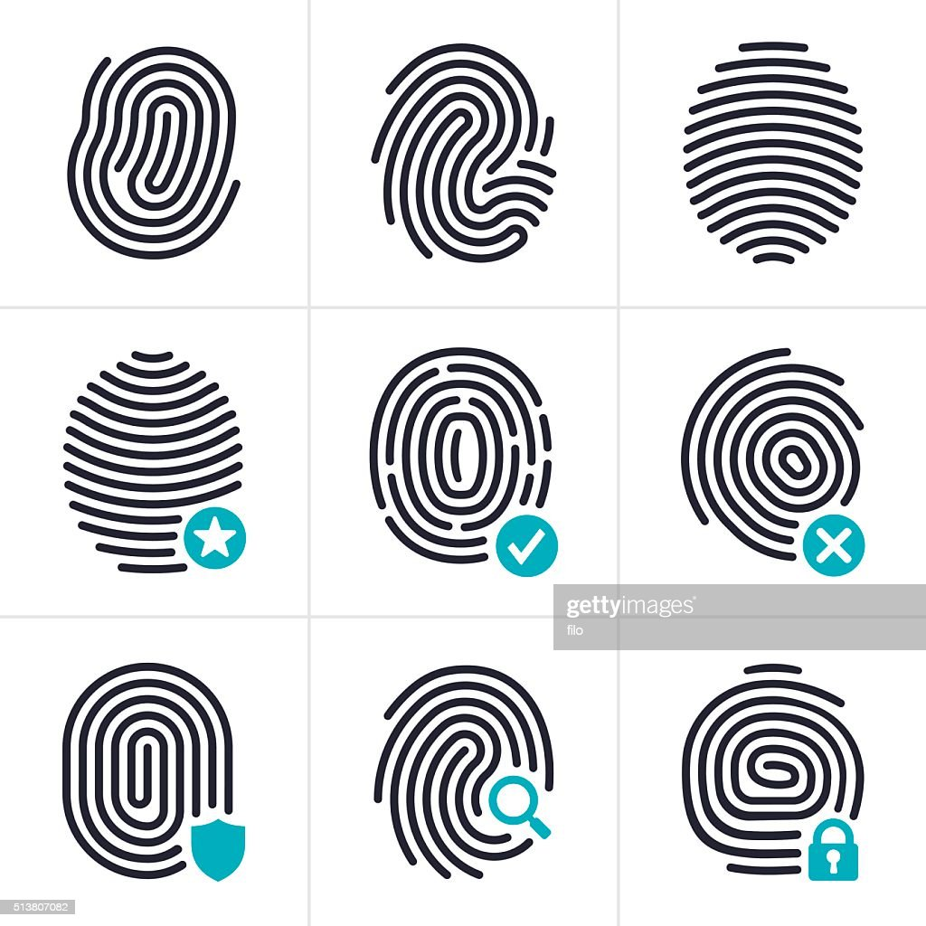 Fingerprint Identity and Security Symbols
