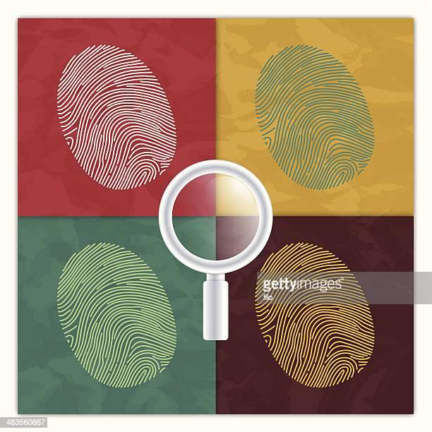 Fingerprint Identity Concept