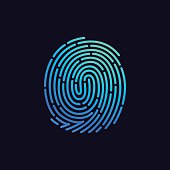 Fingerprint line icon