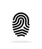 Fingerprint loop type icon on white background.