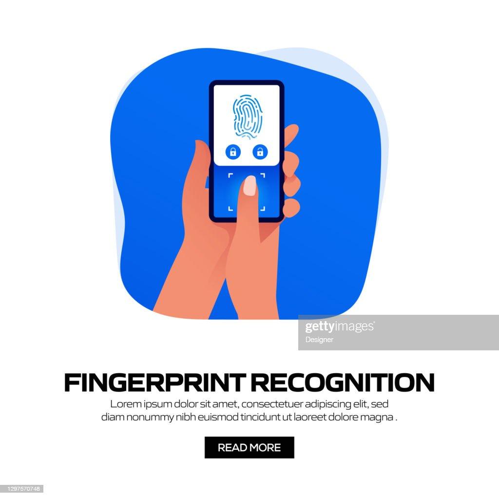 Fingerprint Recognition Concept Vector Illustration For ...
