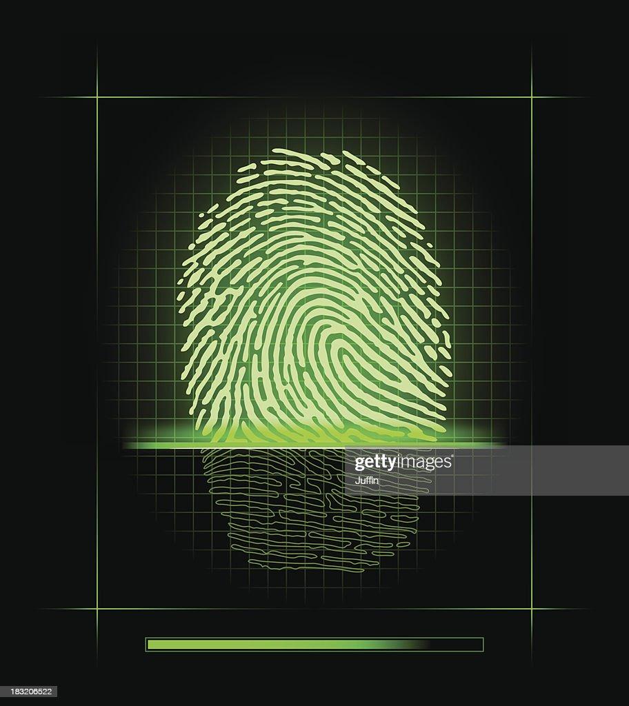 Fingerprint scanner : stock illustration