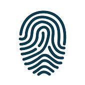 Fingerprint scanning icon – stock vector