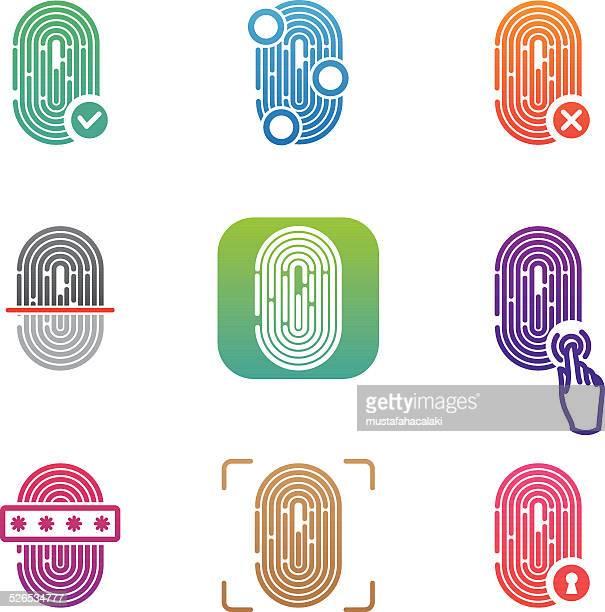 Fingerprint scanning icons