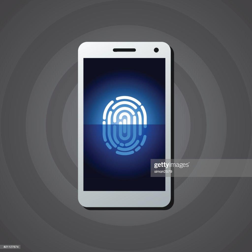 Fingerprint Scanning On Smart Phone stock vector | Getty Images
