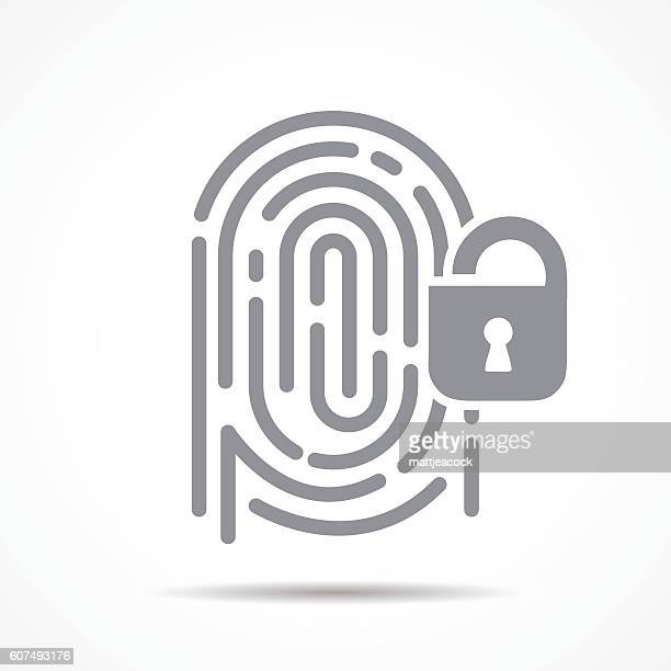 fingerprint security - verification stock illustrations, clip art, cartoons, & icons