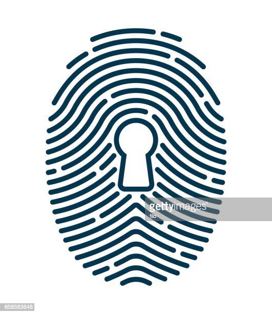 fingerprint security - touchpad stock illustrations