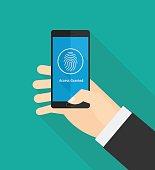 Fingerprint smartphone security