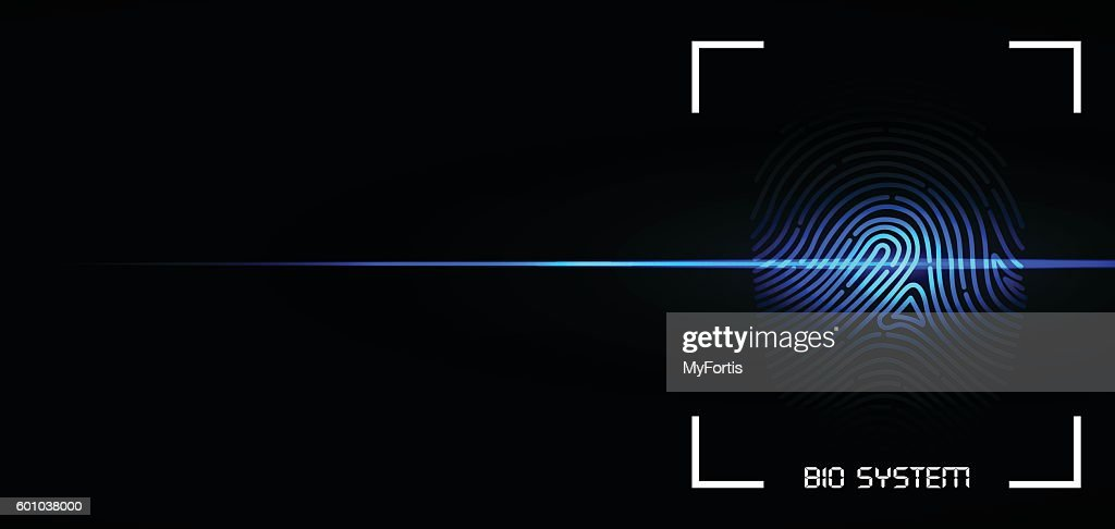 BIO Fingerprint System : stock illustration