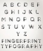 Fingerprint Typography Texture