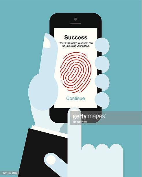 Fingerprint unlock smart phone