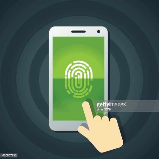 Fingerprint unlock smart phone