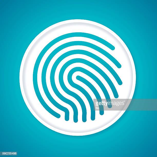 fingerprint - security pass stock illustrations, clip art, cartoons, & icons
