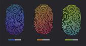 Fingerprints of different colors