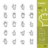 Fingers family vector icons - PRO pack