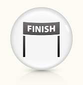 Finish Line icon on white round vector button