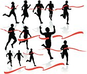 Finish Line - Runner, Sprinter, Track and Field